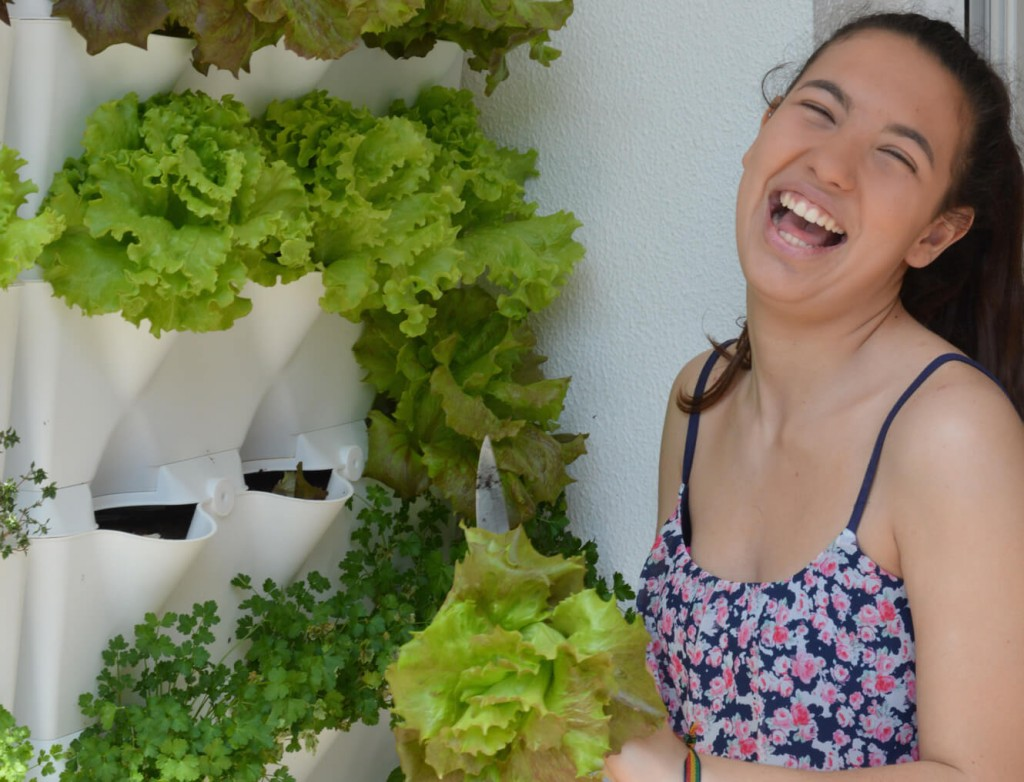 Lettuce Laughing Girl